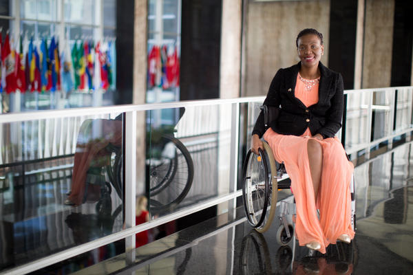 Malebogo Malefhe was honored with a 2017 International Women of Courage award at the U.S. State Department.