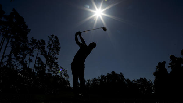 Hideki Matsuyama, of Japan, watches his tee shot on the 14th hole during a practice round for the Masters golf tournament Tuesday in Augusta, Ga.