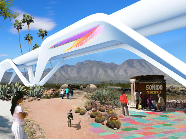Quite unlike the other proposals on this list, the Otra Nation concept condemns barriers altogether. Rather than impede movement between regions, its hyperloop transit system would accelerate travel, effectively rendering the border moot.
