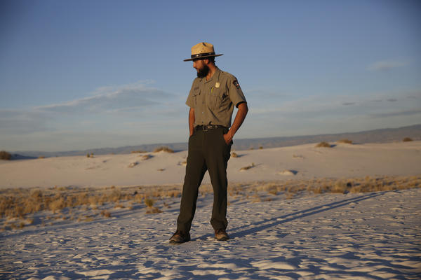 Park Ranger Ibarra poses for a portrait.