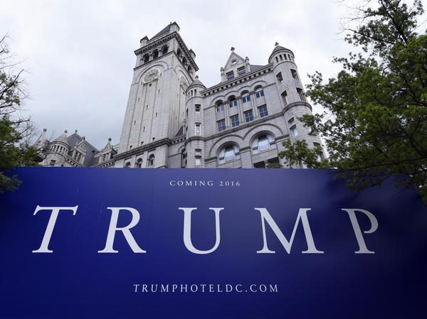The Trump Organization and celebrity chef José Andrés announced a settlement on Friday in the two-year legal dispute over a flagship restaurant in Trump's Washington, D.C. hotel. Above, the Old Post Office building in July 2015 under renovation before the hotel's opening.