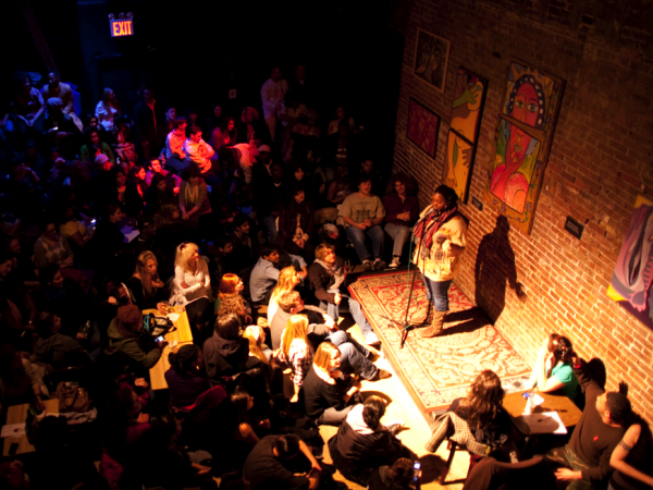 The crowds at the Café, through their loud clapping, peppery snaps, sarcastic hollers, and delighted screams during performances, creates one of the most welcoming spots in all of New York City.