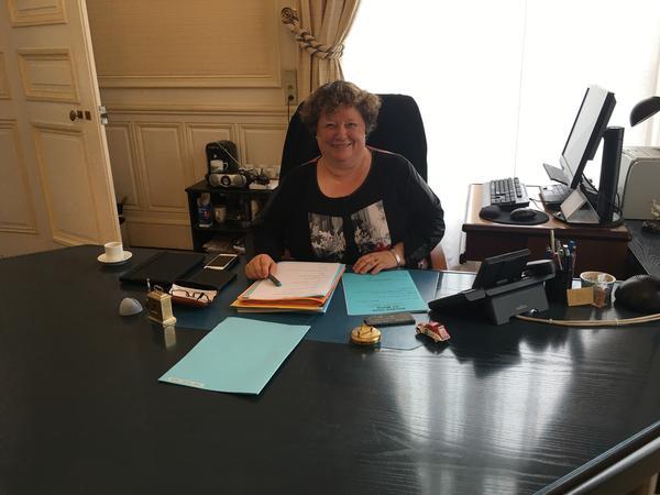 Mayor of Amiens Brigitte Fourré.