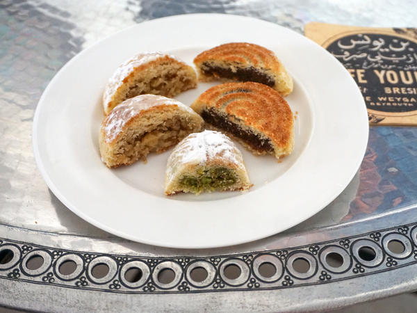 These cookies originated in ancient Egypt, where it is called <em>kahk. </em>No one knows how they became associated with Easter and Eid. Some say they are meant to remind people that at the end of the fasting period, there is a sweet reward, says Sawsan.