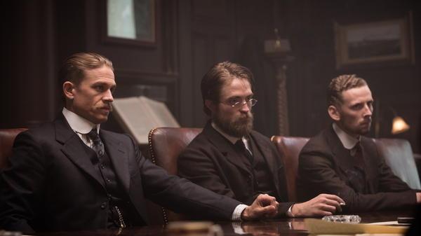 Post-Edwardian Homesick Blues: Fawcett (Charlie Hunnam), Costin (Robert Pattinson) and Manley (Edward Ashley) in <em>The Lost City of Z.</em>