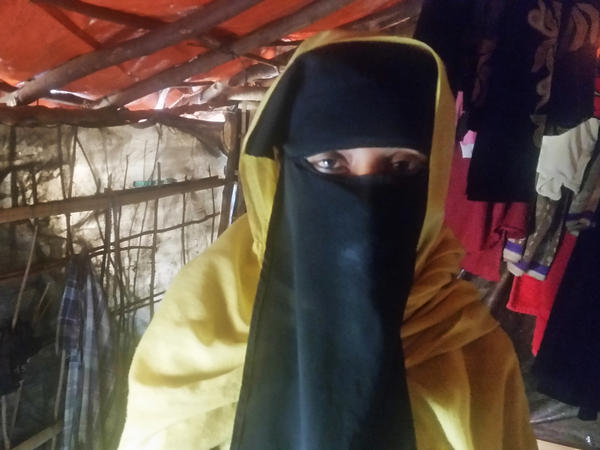Zubaida, 25, is one of thousands of Rohingya to flee their homes during the latest crackdown on the Muslim minority group by the Myanmar Army.