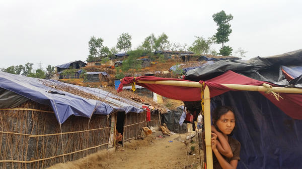 The Balukali refugee camp, located about an hour's drive south of the seaside tourist city of Cox's Bazar, is one of many informal camps in southern Bangladesh. An estimated 2,000 Rohingya families who fled neighboring Myanmar live in Balukali.