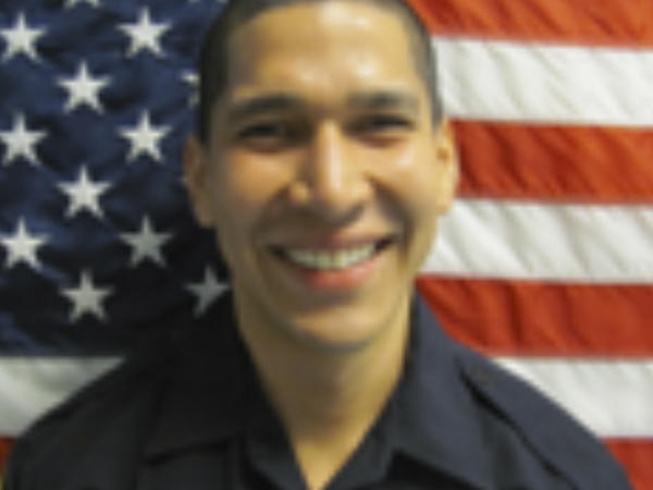 Officer Jonathan Aledda, shown in 2014, faces charges of attempted manslaughter for having shot and wounded therapist Charles Kinsey in July 2016 in North Miami, Fla.