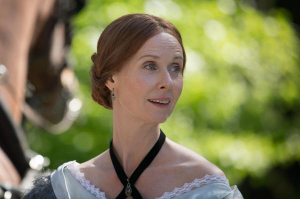 "Cynthia Nixon plays Emily Dickinson in Terence Davies' new film <em>A Quiet Passion. </em>""I think she was afraid of life,"" Davies says. ""Like a lot of geniuses, she had — skin missing. And that makes you very, very vulnerable."""