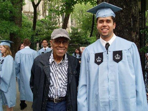 Martin Sostre at his son Vinny's 2010 graduation from Teachers College, Columbia University.