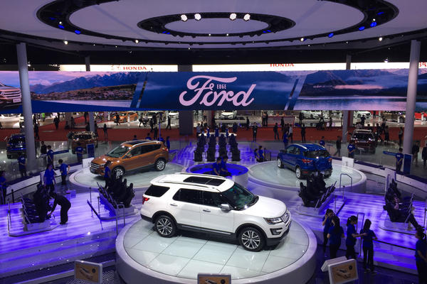 The Ford Motor Co. display at this year's Shanghai auto show, which goes on until April 28, is filled with SUVs and electric hybrid vehicles. The U.S. automaker has announced it will electrify 70 percent of its vehicles in China by 2025. This comes as Beijing is calling on automakers to sell more electric vehicles.