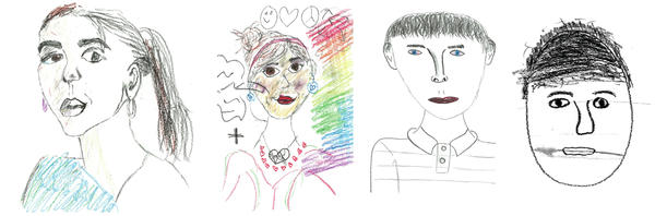 Students were asked to create an original self-portrait as part of the 2016 NAEP Arts Assessment.