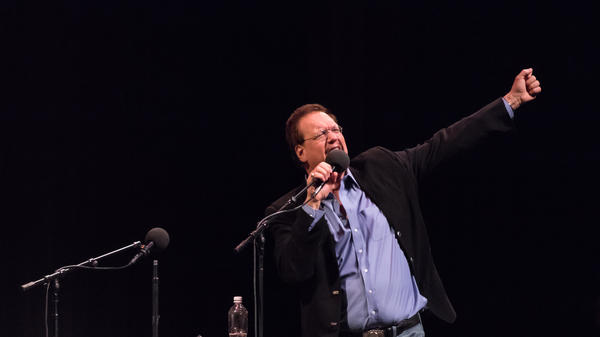 Penn Jillette on Ask Me Another in Phoenix, Arizona.