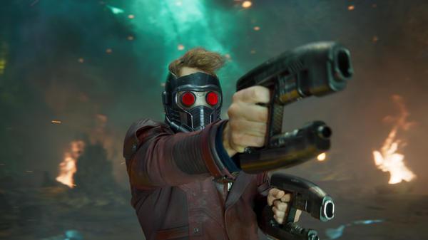 <em>Pew! Pew! Pew! Volume Two</em>: Star-Lord/Peter Quill (Chris Pratt) gives 'em both barrels in <em>Guardians Of The Galaxy Vol. 2</em>.