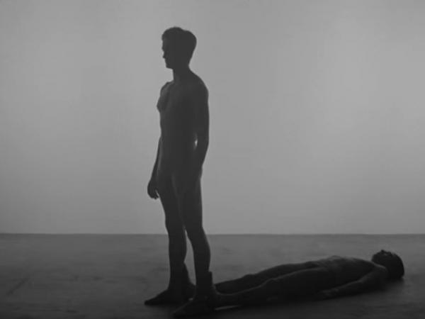 A still from the trailer previewing the new Justin Peck work <em>The Decalogue</em>, with music by Sufjan Stevens.