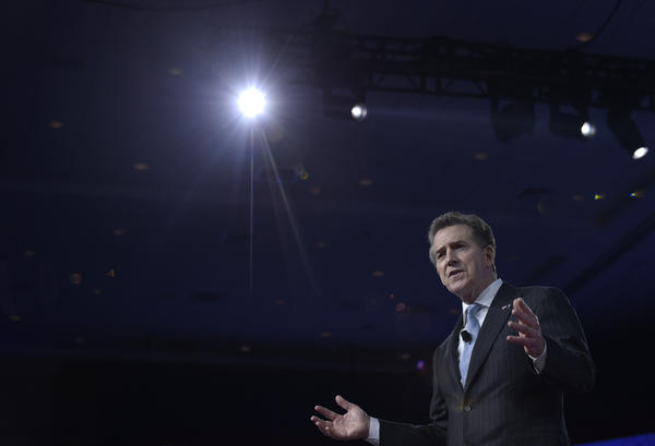 Heritage Foundation President and former GOP Sen. Jim DeMint speaks at the Conservative Political Action Conference in Oxon Hill, Md., on Feb. 23.
