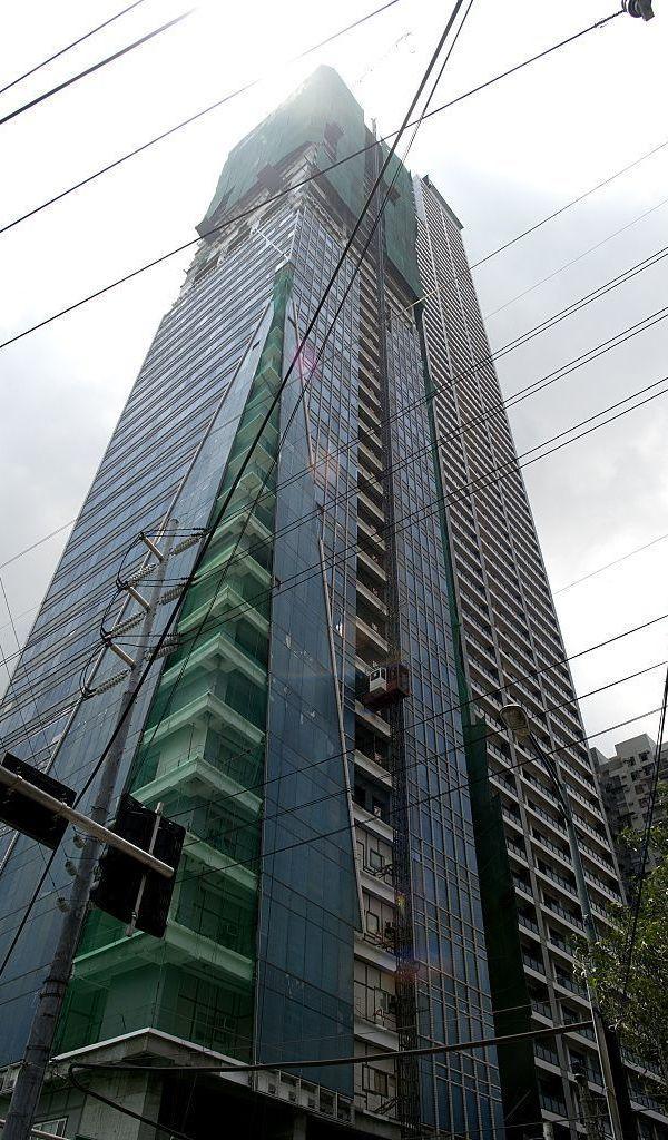 Trump Tower still under construction in Manila on July 31, 2015.