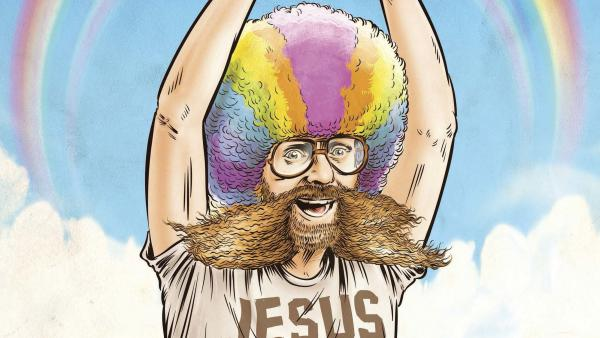 """""""Rainbow Man,"""" one of 29 disturbing stories from American history covered in Dave Anthony and Gareth Reynolds' <em>The United States of Absurdity</em>."""
