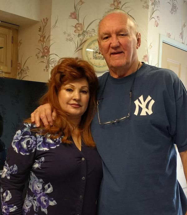 Chuck Wepner and his wife Linda, who convinced him to sue Sylvester Stallone for using his life story in <em>Rocky</em>.