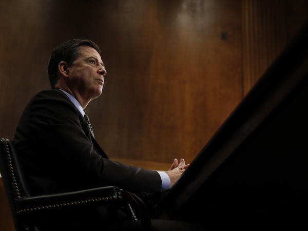 Then-FBI Director James Comey testifies during a Senate Judiciary Committee hearing on May 3. Comey was fired May 9 after more than a year of controversy surrounding the FBI's investigation into Hillary Clinton's email server.