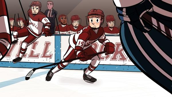 """<em></em>Eric """"Bitty"""" Bittle takes to the ice in """"Check Please,"""" one of the most popular hockey webcomics (yes, that's a thing)."""