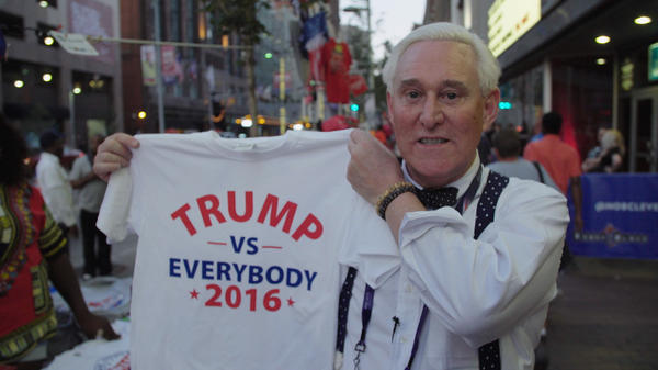 """Roger Stone has been """"indispensable ... to virtually every bigwig in Republican politics since Nixon,"""" says filmmaker Morgan Pehme."""
