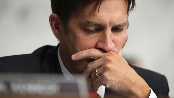 Senate Judiciary Committee member Ben Sasse, a Republican, listens to witnesses Monday during a subcommittee hearing on Russian interference.