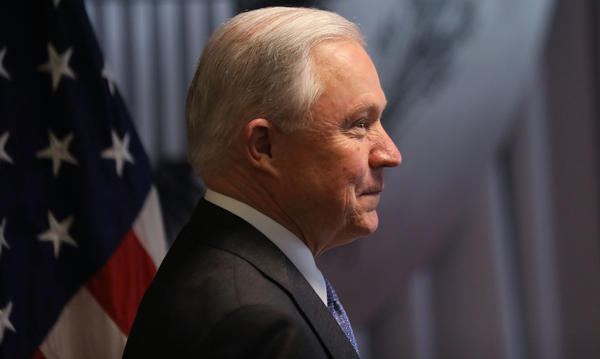 Attorney General Jeff Sessions at a speech in April.