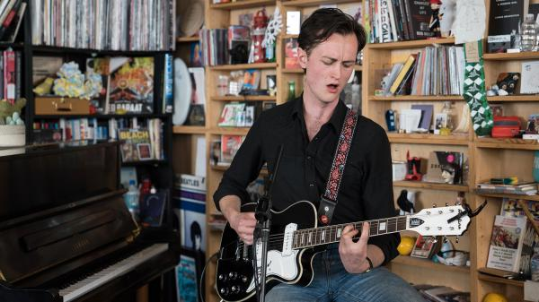 Tim Darcy performs at Tiny Desk Concert on April 21, 2017 (Marian Carrasquero/NPR)