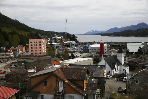 Ketchikan sits on an island at the southernmost end of southeast Alaska, a prime spot for cruise ships navigating Alaska's Inside Passage.