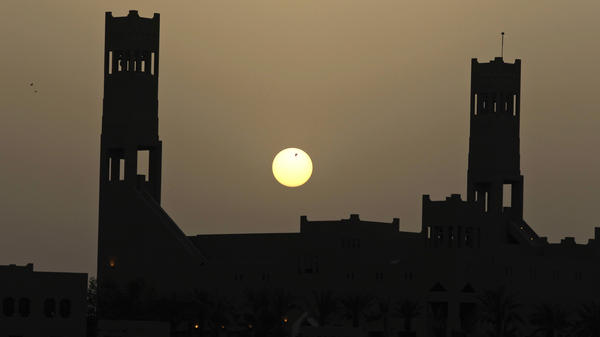 The sun sets over the old Saudi palace on the outskirts of the Saudi capital Riyadh. President Trump will visit Saudi Arabia, as well as Israel and the Vatican, starting Friday.