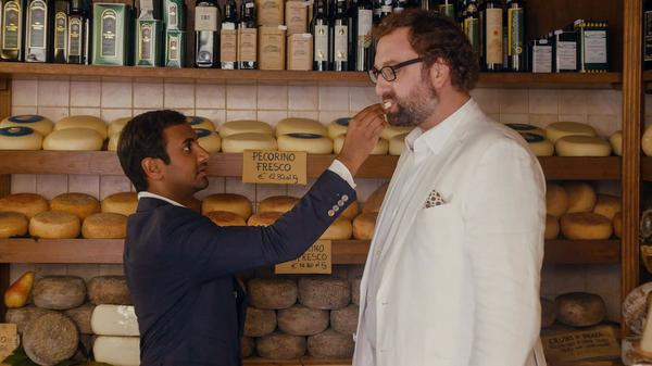 Aziz Ansari and Eric Wareheim play Dev and his friend Arnold on Netflix's <em>Master Of None</em>.