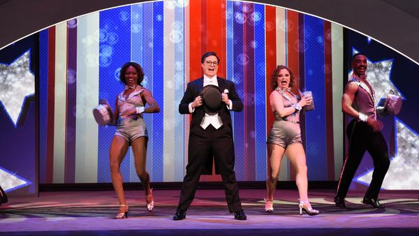 Stephen Colbert headlined CBS's glitzy presentation to advertisers at this year's upfronts in New York City.