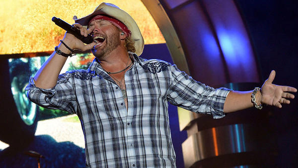 The American country music star Toby Keith, performing in Kansas in 2012.
