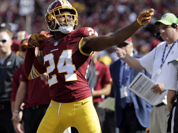 "Washington's cornerback Josh Norman was fined after he celebrated his interception with a ""bow and arrow"" gesture during a 2016 game against the Cleveland Browns."