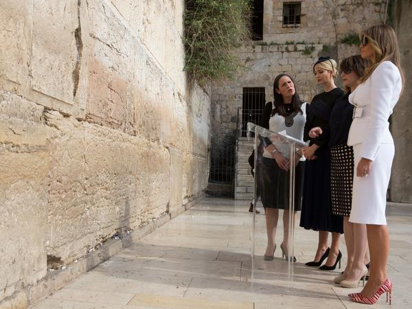 Ivanka Trump wore a hat during Monday's visit to the Western Wall in Jerusalem with the first lady, as it is customary for observant Jewish women to cover their hair.
