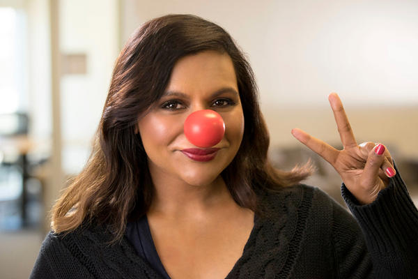 Mindy Kaling is one of many celebrities who have put on a red nose for Red Nose Day, raising the question: Huh, what?