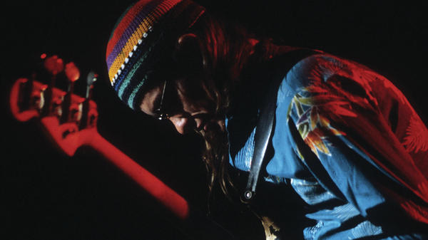Jaco Pastorius performs in 1982, around the time when Paul Blakemore engineered his concert at Avery Fisher Hall for NPR's <em>Jazz Alive!</em>.