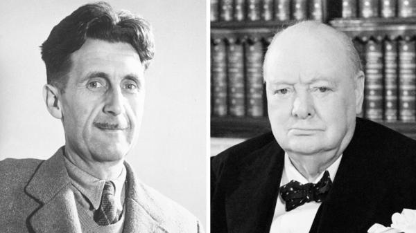 According to author Tom Ricks, both George Orwell (left) and Winston Churchill paid a price for speaking up.