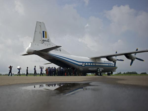 A Myanmar military airplane in 2015, similar to one that disappeared on Wednesday carrying more than 100 people.