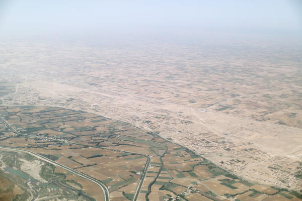 The view flying into Lashkar Gah on June 5, 2016.