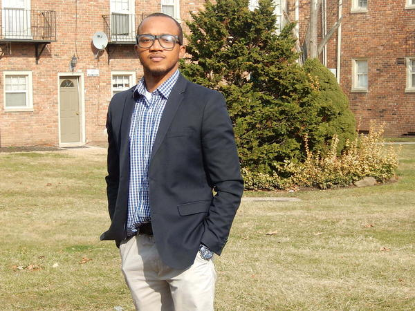 Olutosin Oduwole at his home in New Jersey.