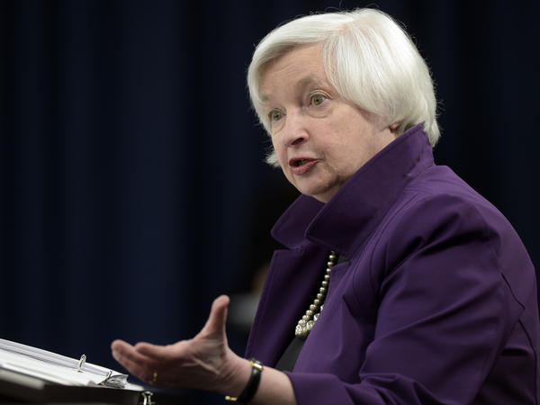 Federal Reserve Chair Janet Yellen speaks to reporters in Washington, D.C., on Wednesday after the Fed announced it would increase interest rates by a quarter-point.