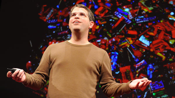 Matt Cutts on the TED stage.