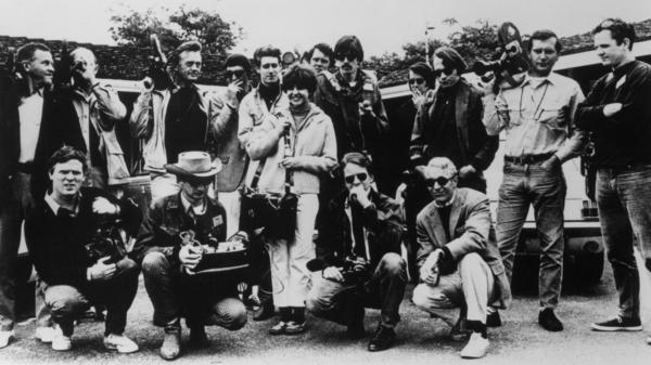 The film crew behind D.A. Pennebaker's documentary, <em>Monterey Pop</em>.