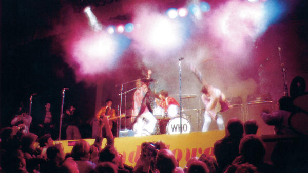 """The Who raucously closes out """"My Generation"""" with Pete Townshend smashing his guitar."""