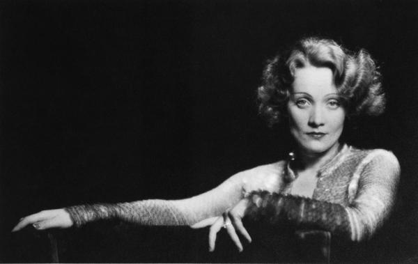 Marlene Dietrich in a publicity photo for the film <em>Dishonored</em> (1931), in which she plays an Austrian spy.