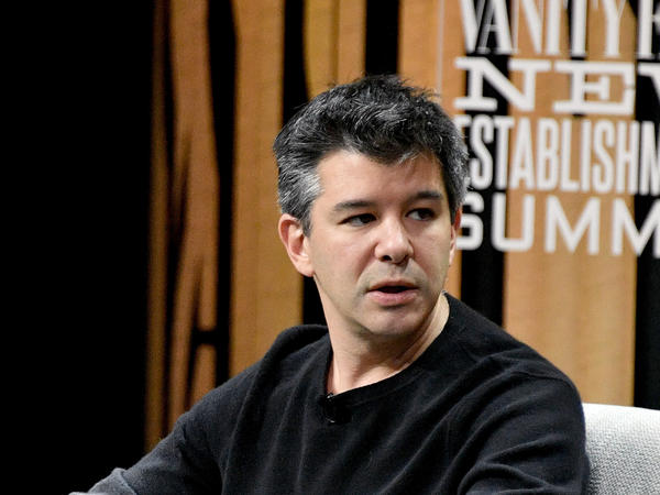 Uber co-founder Travis Kalanick, pictured here at a Vanity Fair summit in October 2016, resigned abruptly this week as the company's CEO after weeks of scandals about workplace culture.