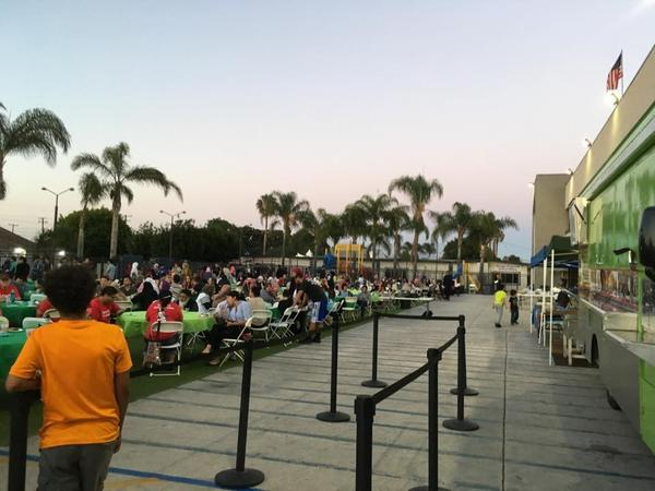 More than 1,400 people attended a recent Taco Trucks At Every Mosque event at the Islamic Society of Orange County in Garden Grove, Calif. (Courtesy)