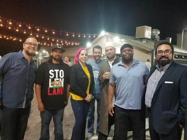 Muslim and Latino attendees at a Taco Trucks At Every Mosque event at the Islamic Society of Orange County. (Courtesy)